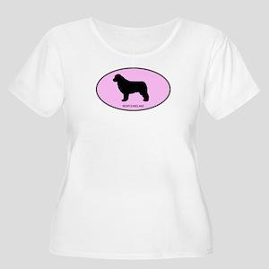 Newfoundland (oval-pink) Women's Plus Size Scoop N