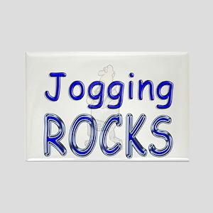 Jogging Rocks Rectangle Magnet