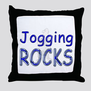Jogging Rocks Throw Pillow