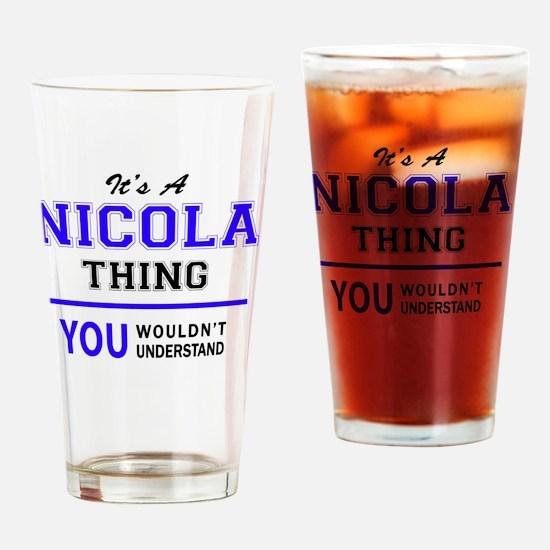 Cute Nicolas Drinking Glass