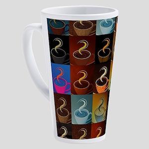 Coffee cup montage 17 oz Latte Mug