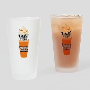 Funny Pug Pumpkin PUGKIN Spice Latt Drinking Glass