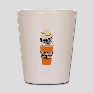 Funny Pug Pumpkin PUGKIN Spice Latte Shot Glass