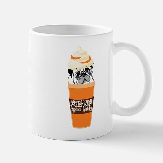 Funny Pug Pumpkin PUGKIN Spice Latte Mugs