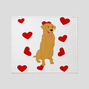 Golden Retriever Love Throw Blanket