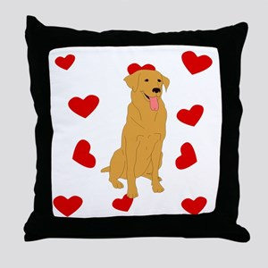 Golden Retriever Love Throw Pillow