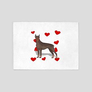 Doberman Love 5'x7'Area Rug
