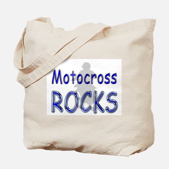 Motocross Rocks Tote Bag