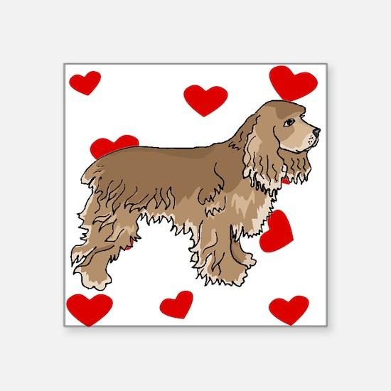 Cocker Spaniel Love Sticker