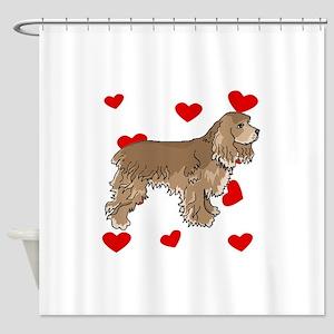 Cocker Spaniel Love Shower Curtain