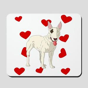 Bull Terrier Love Mousepad