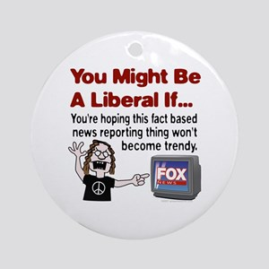 Angry with Fox News Ornament (Round)