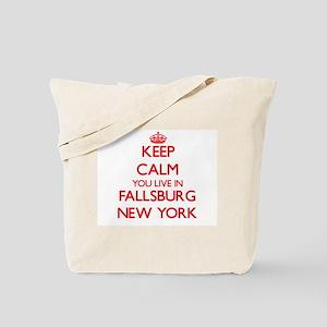 Keep calm you live in Fallsburg New York Tote Bag