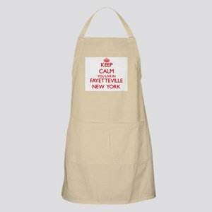 Keep calm you live in Fayetteville New York Apron