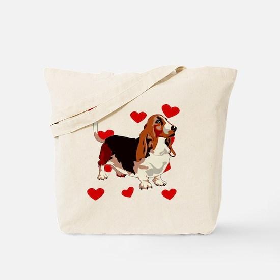Basset Hound Love Tote Bag