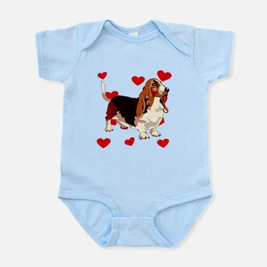 Basset Hound Love Body Suit