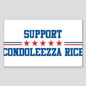 Support CONDOLEEZZA RICE Rectangle Sticker