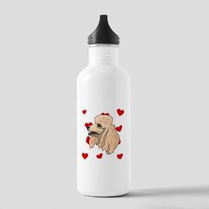 Poodle Love Water Bottle