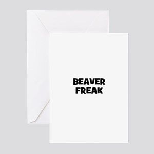 beaver freak Greeting Cards (Pk of 10)