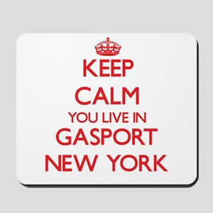 Keep calm you live in Gasport New York Mousepad