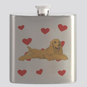 Cocker Spaniel Love Flask