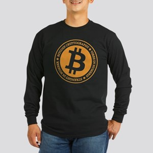 Type 1 Bitcoin Logo Long Sleeve T-Shirt