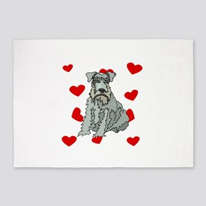 Kerry Blue Terrier Love 5'x7'Area Rug