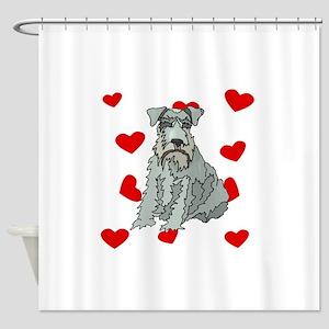 Kerry Blue Terrier Love Shower Curtain