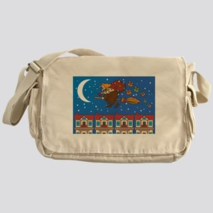 xmas Witch Befana Messenger Bag
