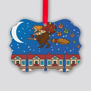 xmas Witch Befana Picture Ornament