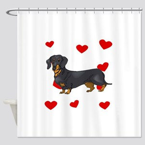 Dachshund Love Shower Curtain