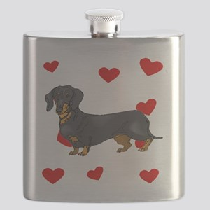 Dachshund Love Flask