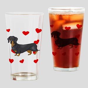 Dachshund Love Drinking Glass