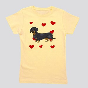 Dachshund Love Girl's Tee