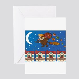 xmas Witch Befana Greeting Cards