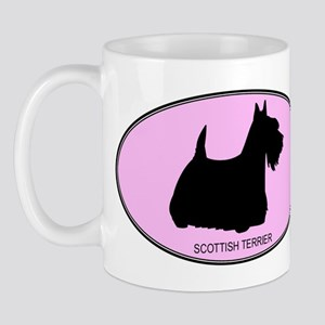 Scottish Terrier (oval-pink) Mug