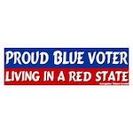 Red Texan Blue Voter Bumper Sticker