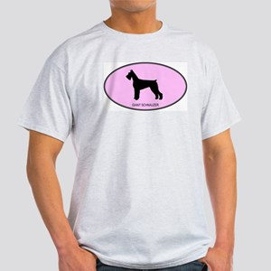 Giant Schnauzer (oval-pink) Light T-Shirt