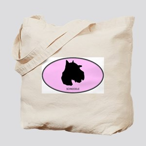 Schnoodle (oval-pink) Tote Bag