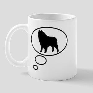 Thinking of Schipperke Mug