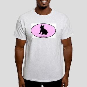 French Bulldog (oval-pink) Light T-Shirt
