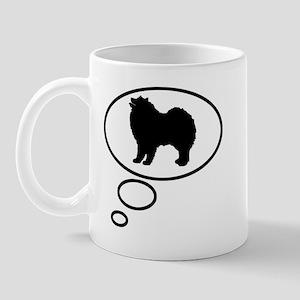 Thinking of Samoyed Mug