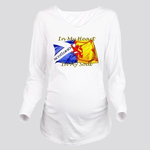 Heart and soul Scotl Long Sleeve Maternity T-Shirt