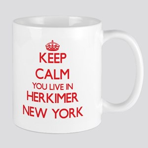 Keep calm you live in Herkimer New York Mugs