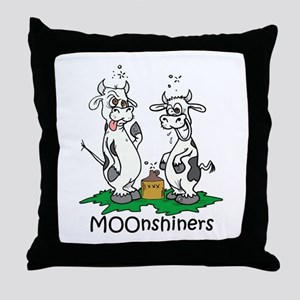 MOOnshiners Throw Pillow