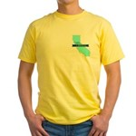 True Blue California LIBERAL - Yellow T-Shirt