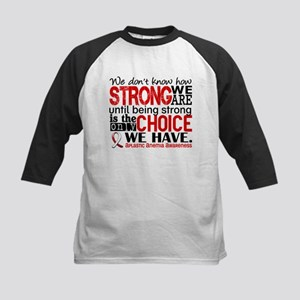 Aplastic Anemia HowStrongWeAr Kids Baseball Jersey