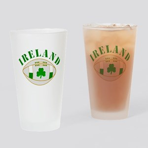 Ireland style rugby ball Drinking Glass