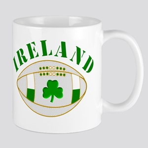 Ireland style rugby ball Mugs