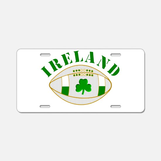 Ireland style rugby ball Aluminum License Plate